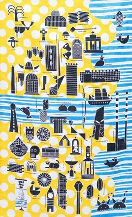 Tea Towel - Dublin