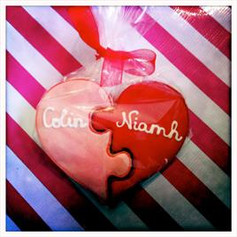 Heart Jigsaw Cookies - Wrapped