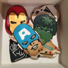 Box of Superhero Cookies