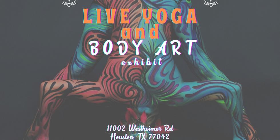 Live Yoga and Body Art Exhibit