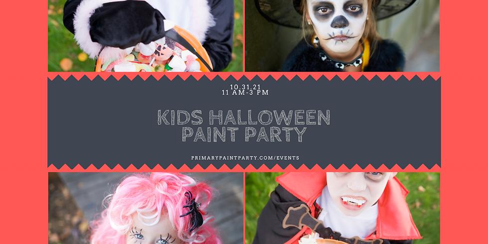 Kids Halloween Paint Party