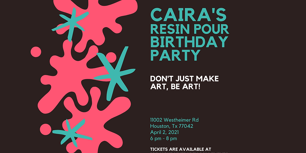 Caira's Birthday Resin Pour
