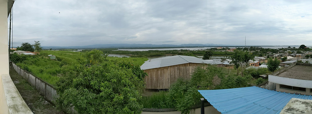 This picture was taken from atop the community health center in San José de Chamanga, Ecuador. They center provides healthcare for the town and surrounding communities. It also serves as home base for research projects designed to benefit the local population.