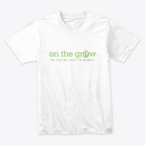 On The Grow, LLC Microgreens Business Logo Shirt in White