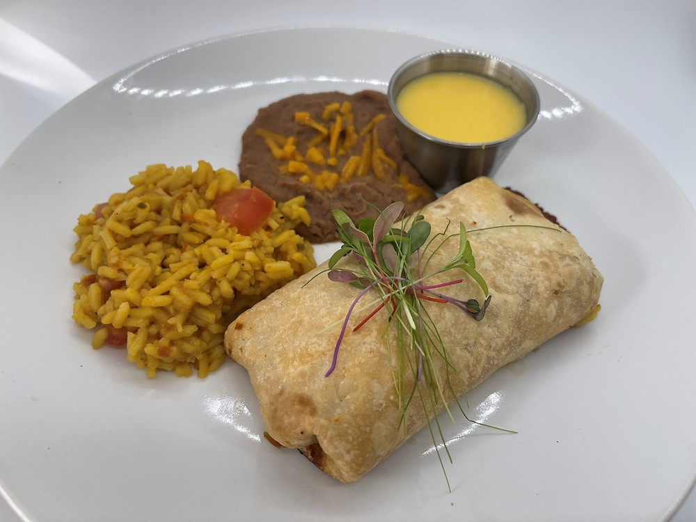 Oven-Baked Chicken Chimichangas with Microgreens by Debbie Warbington and On The Grow