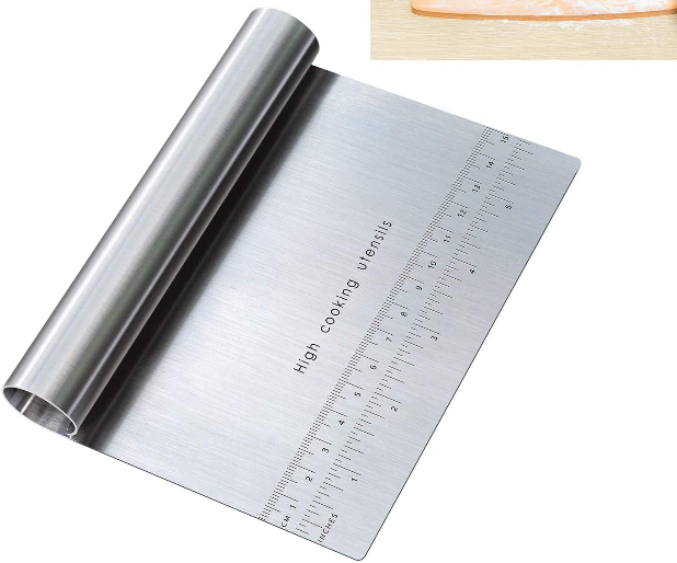 Pastry Pizza cutter for removing microgreen roots fast after harvesting