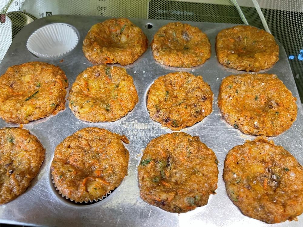 Mini MVP Muffins (Microgreens, Veggies & Pineapple) by Debbie Warbington and On The Grow Food-Prep