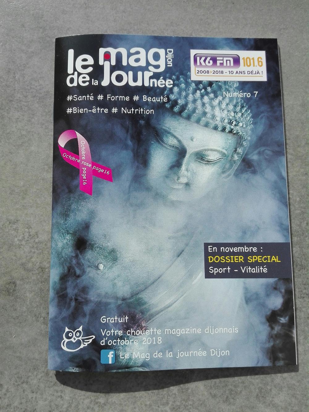 Ce mois-ci, le nouveau magazine LeMag de la Journée Dijon met l'Iridologie a l'honneur. Vous trouverez en pages 14 et 15, un très bel article sur cette pratique peu connue et qui mérite que l'on s'y attarde.