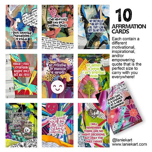 10 Affirmation Cards