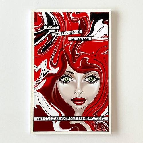 TikTok little red handmade notebook