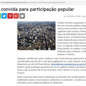 Iplan convida para participação popular