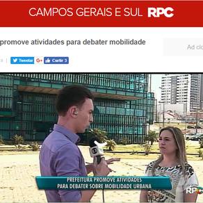 Prefeitura de Ponta Grossa promove atividades para debater mobilidade urbana