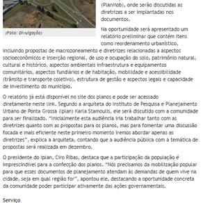 """""""Audiência pública discutirá diretrizes dos Planos Diretor e de Mobilidade Urbana"""""""