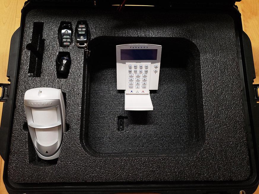 L'intérieur du système de protection boshp portable