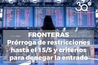 Fronteras: criterios para denegar la entrada