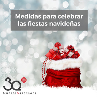 Medidas para celebrar las fiestas navideñas
