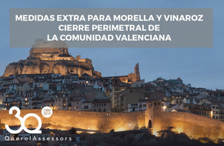Medidas extra para Morella y Vinaroz