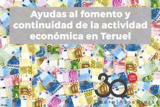 Ayudas al fomento y continuidad de la actividad económica