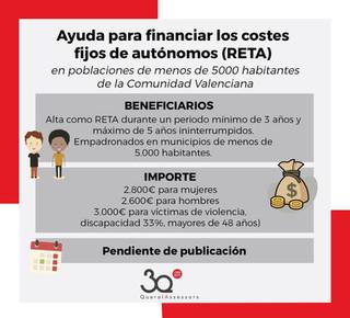 Ayuda para costes fijos de autónomos (RETA)