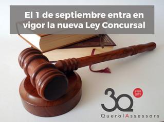El 1/9 entra en vigor la nueva Ley Concursal