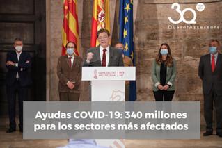 Ayudas COVID-19: 340 millones para sectores más afectados