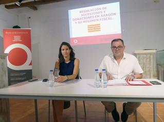 Charla sobre el derecho de sucesiones y donaciones en Aragón