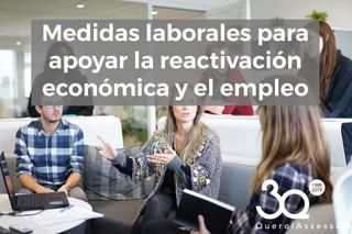 Medidas laborales para apoyar la reactivación económica y el empleo
