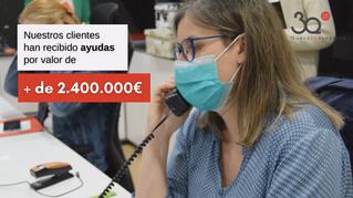 2.400.000€ en ayudas tramitadas