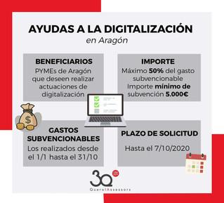 Ayudas a la digitalización para Aragón