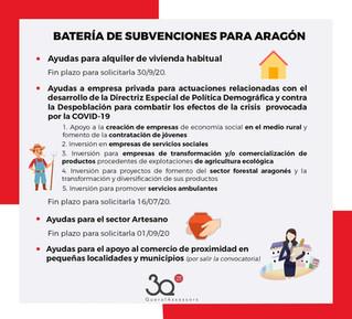 Batería de subvenciones para Aragón