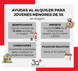 Plan Renove y Ayudas al Alquiler en Aragón