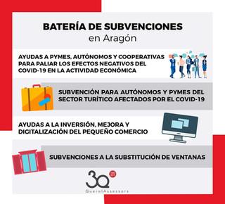 Batería de subvenciones en Aragón