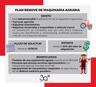 Ayudas del Plan RENOVE de maquinaria agraria