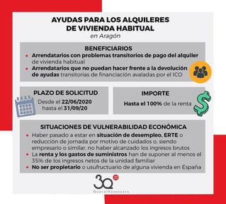 Ayudas para alquileres de vivienda habitual en Aragón