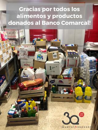 Más de 100 cajas para el Banco de Alimentos