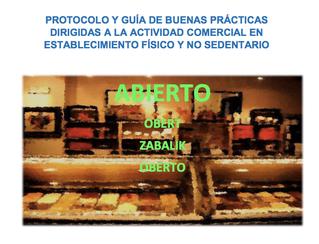 Protocolo de buenas prácticas para comercios