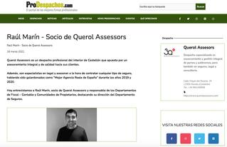 Prodespachos entrevista a Raul Marín