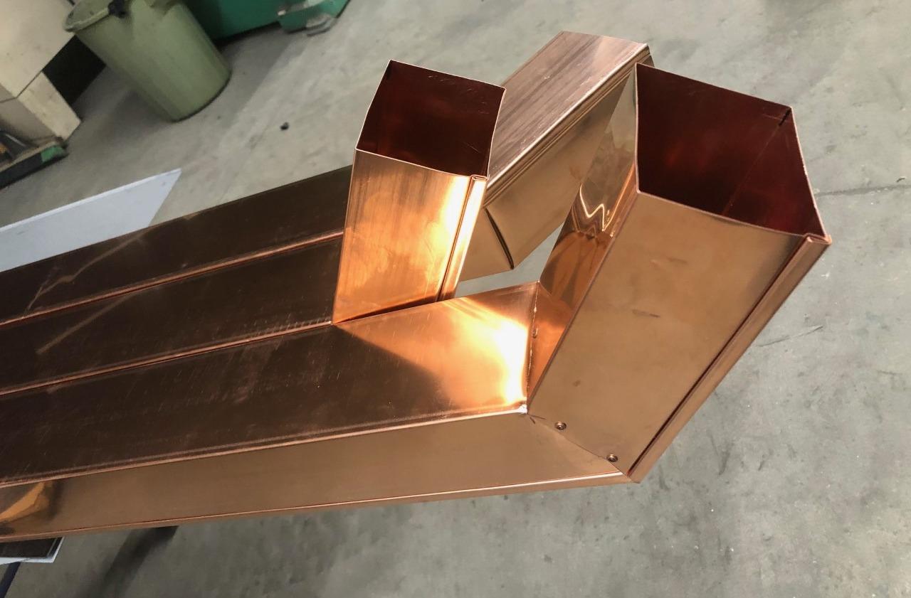 Copper down spout
