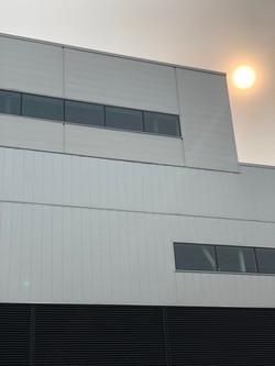 White & Silver Metallic Wall Panel