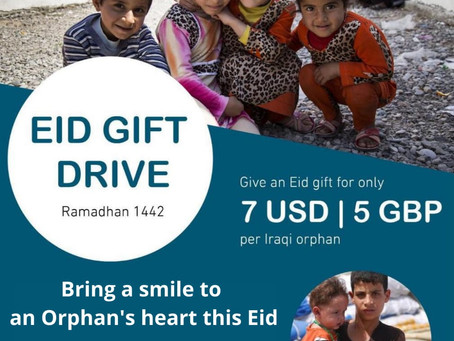 Bring a smile to an orphan's heart this Eid