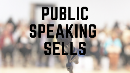 Public Speaking Sells Books