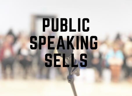 Public Speaking Sells Books