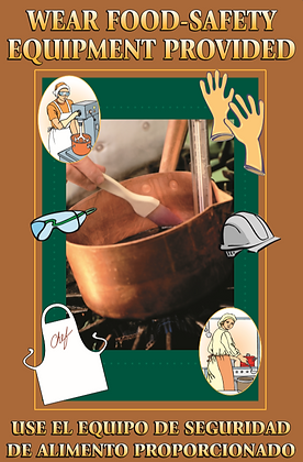 Wear Food Safety Equipment Provided Poster
