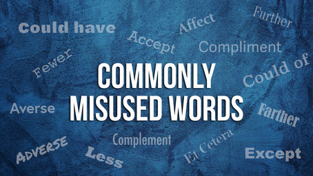 I Can't Believe You Said That: Commonly Misused Words