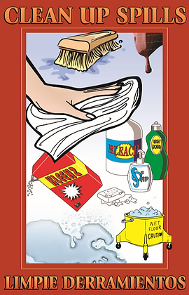 Clean Up Spills Poster
