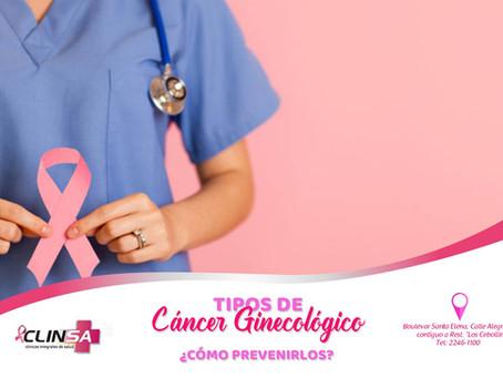 Tipos de cáncer GINECOLÓGICOS