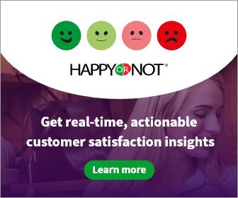 Happyornot makes feedback terminals measuring customer satisfaction sing smiley-face buttons.