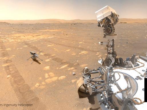 FIRST FLIGHT OF NASA'S 'INGENUITY' CHOPPER IN MARS SET FOR APRIL 19