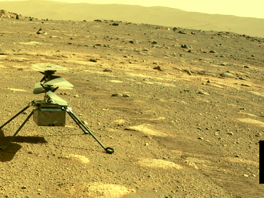NASA'S MARS HELICOPTER SURVIVES 1ST NIGHT ALONE