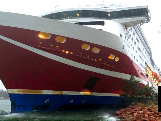 BALTIC SEA FERRY WITH 400 PEOPLE RUNS AGROUND IN FINLAND